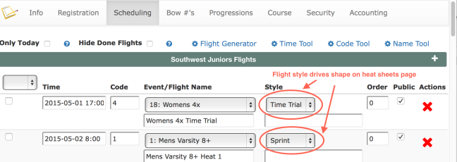 Time Trial Flight Type