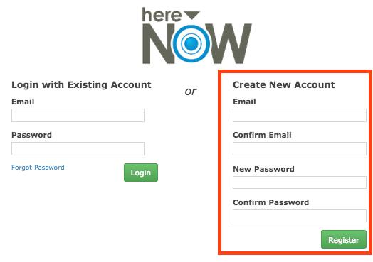 Register a New Account