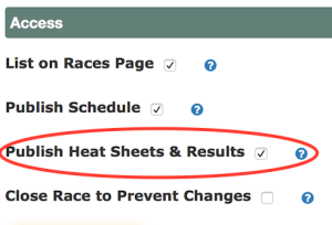 Access3 - Publish Heat Sheets & Results